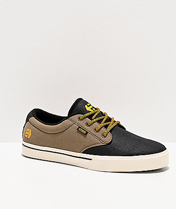 Etnies Jameson 2 Eco Black & Olive Skate Shoes