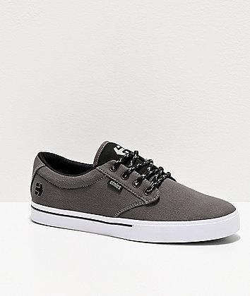 Etnies Jameson 2 Eco Grey & Black Skate Shoes