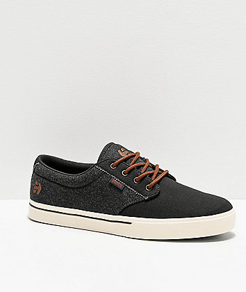 Etnies Jameson Dark Grey, White & Gum Skate Shoes