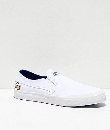 Etnies Langston x Sheep White Slip-On Skate Shoes