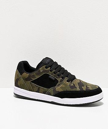 Etnies Veer Black & Camo Skate Shoes
