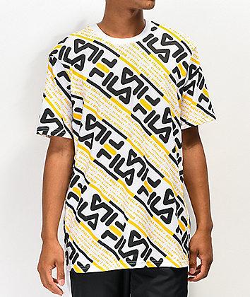 FILA Calvin White & Gold T-Shirt