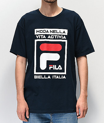 FILA Dal Navy, White & Red T-Shirt