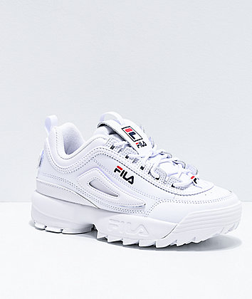 FILA Disruptor II Logo Reveal White Shoes