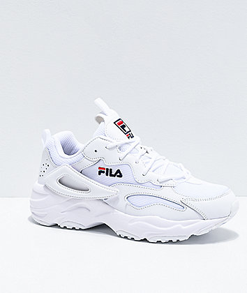 FILA Ray Tracer Logo Reveal White Shoes