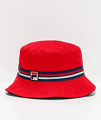 FILA Reversible Red Bucket Hat