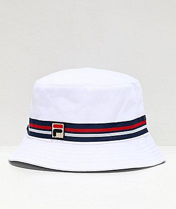 FILA Reversible White Bucket Hat