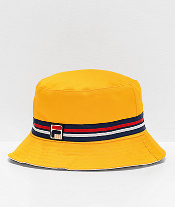 FILA Reversible Yellow Bucket Hat