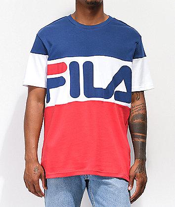 FILA Vialli Navy, White & Red T-Shirt