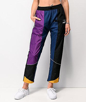 Favelo Black, Purple & Blue Work Jogger Pants