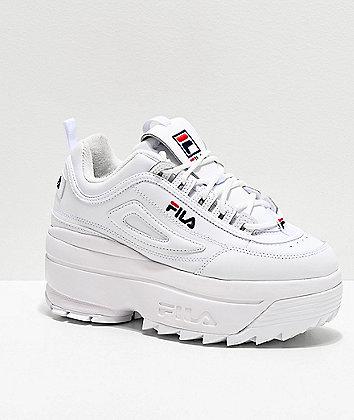Fila Disruptor II White Super Platform Shoes
