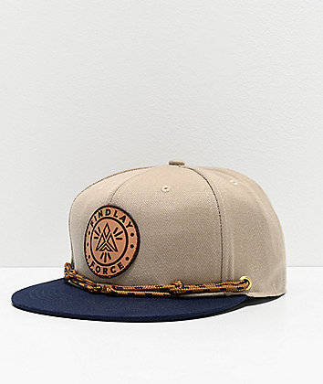Findlay Seaport Khaki & Black Snapback Hat