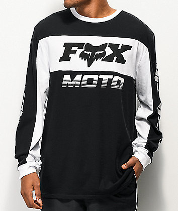Fox Charger Airline Black Knit Long Sleeve T-Shirt