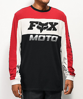 Fox Charger Airline Red Knit Long Sleeve T-Shirt