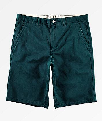 Free World Discord Dark Teal Chino Shorts