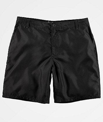 Free World Glazed Black Hybrid Shorts