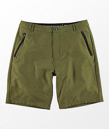 Free World Maverick Olive Hybrid Shorts
