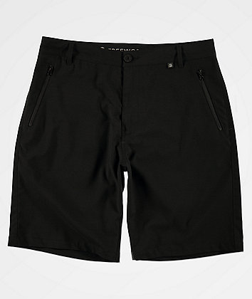 Free World Ultraist Stretch Tech Black Board Shorts