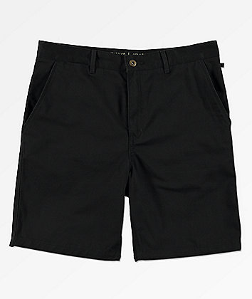 Free World Walker All Black Chino Shorts