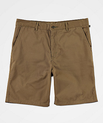 Free World Walker Light Khaki Chino Shorts