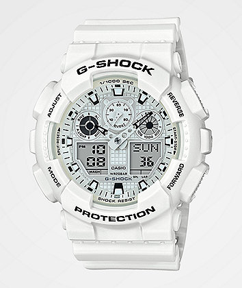 G-Shock GA100 Marine White Watch