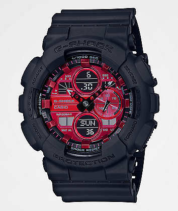 G-Shock GA140 Adrenaline Red & Black Watch