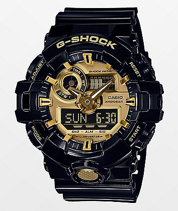 G-Shock GA710GB-1AG Black & Gold Watch