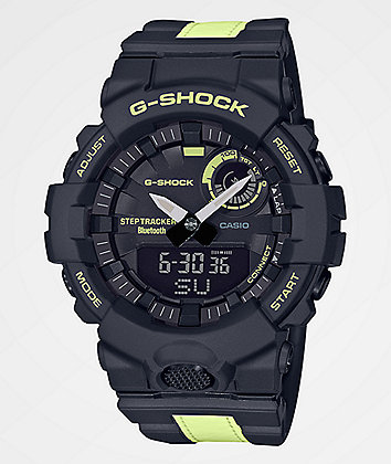 G-Shock GBA800 Black & Lime Green Reflective Digital Watch