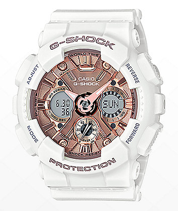 G-Shock GMAS120MF-7A2 White & Rose Gold Watch
