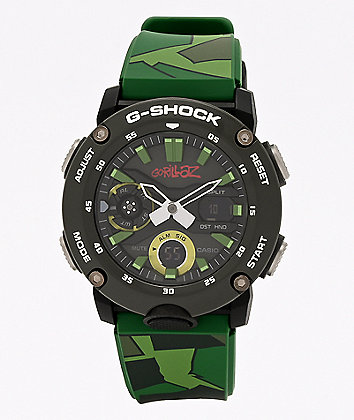 G-Shock x Gorillaz GA2000 Black & Green Watch