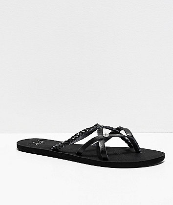 Gigi Star Strappy All Black Sandals