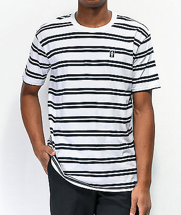 Girl OG Black & White Stripe T-Shirt