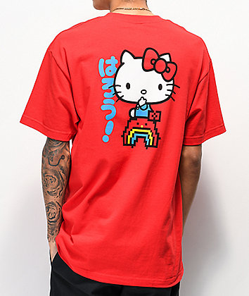 Girl x Hello Kitty 45th Anniversary Rainbow Red T-Shirt