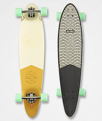 "Globe Pinner Classic Off White 40"" Longboard Complete"