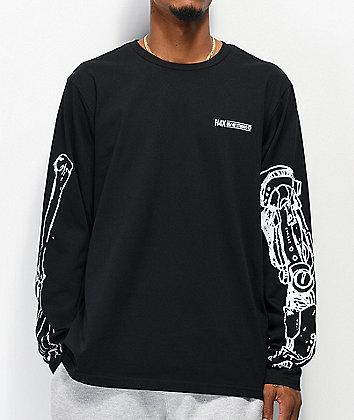 H4X Robot Arm Black Long Sleeve T-Shirt