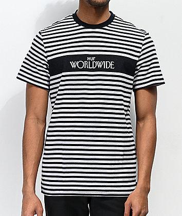 HUF Archive Black & Grey Striped T-Shirt