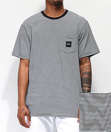 HUF Carson Black Striped Knit Pocket T-Shirt