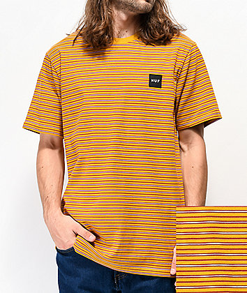 HUF Dazed Knit Gold T-Shirt