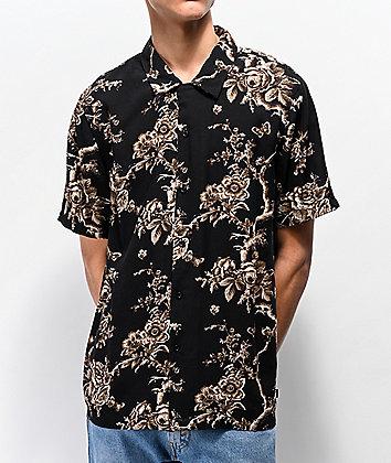 HUF Highline Black Short Sleeve Button Up Shirt