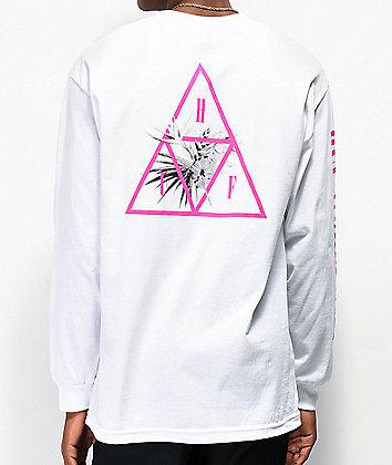 HUF Jungle Triple Triangle White Long Sleeve T-Shirt