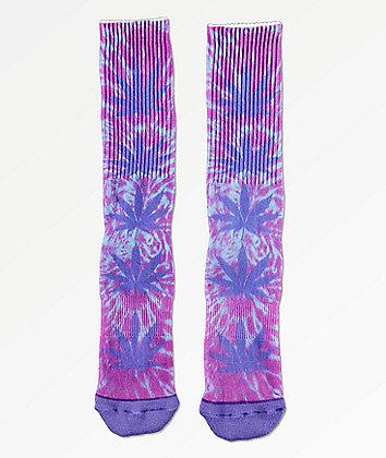 HUF Plantlife Digital Dye Blue Iris Crew Socks