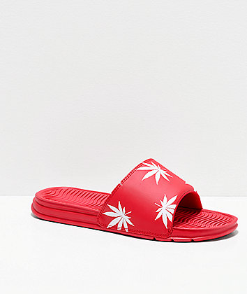 HUF Plantlife Red Slide Sandals
