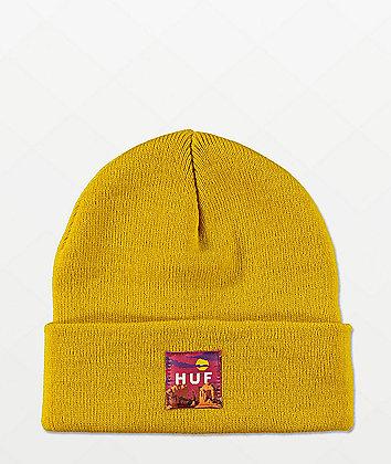 HUF Sedona Label Yellow Beanie
