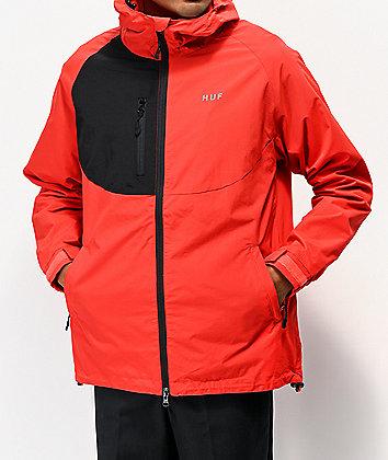 HUF Standard Shell 2 Red Windbreaker Jacket