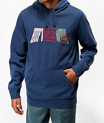HUF Suspension Blue Hoodie