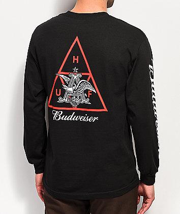 HUF x Budweiser Eagle Black Long Sleeve T-Shirt