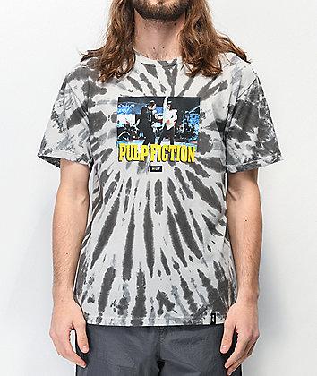 HUF x Pulp Fiction Dance Scene Grey Tie Dye T-Shirt