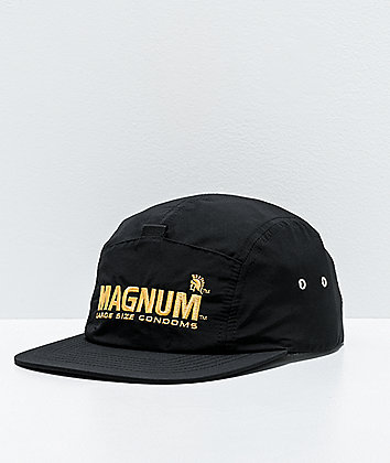 HUF x Trojan Magnum Stash Black Strapback Hat