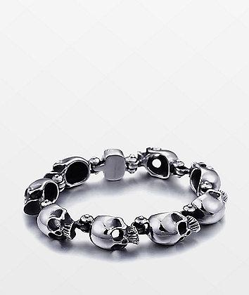Half Hearted Skull Head Stainless Steel Bracelet