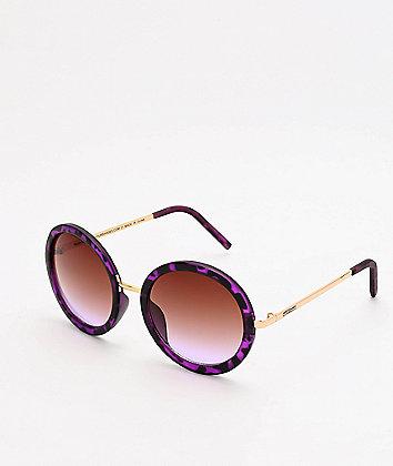 Happy Hour Squares Purple Tortoise Sunglasses